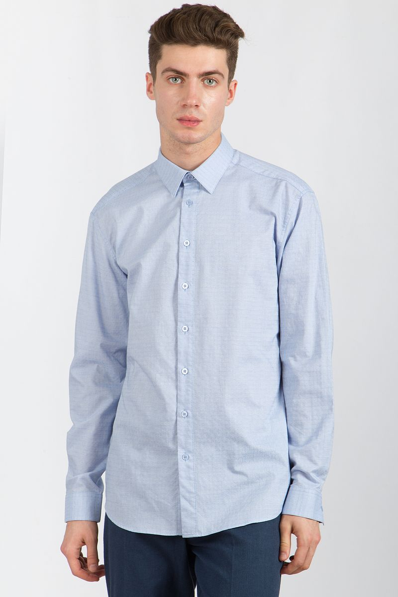 Рубашка мужская Finn Flare, цвет: голубой. B18-21023. Размер 4XL (58) stable page 7