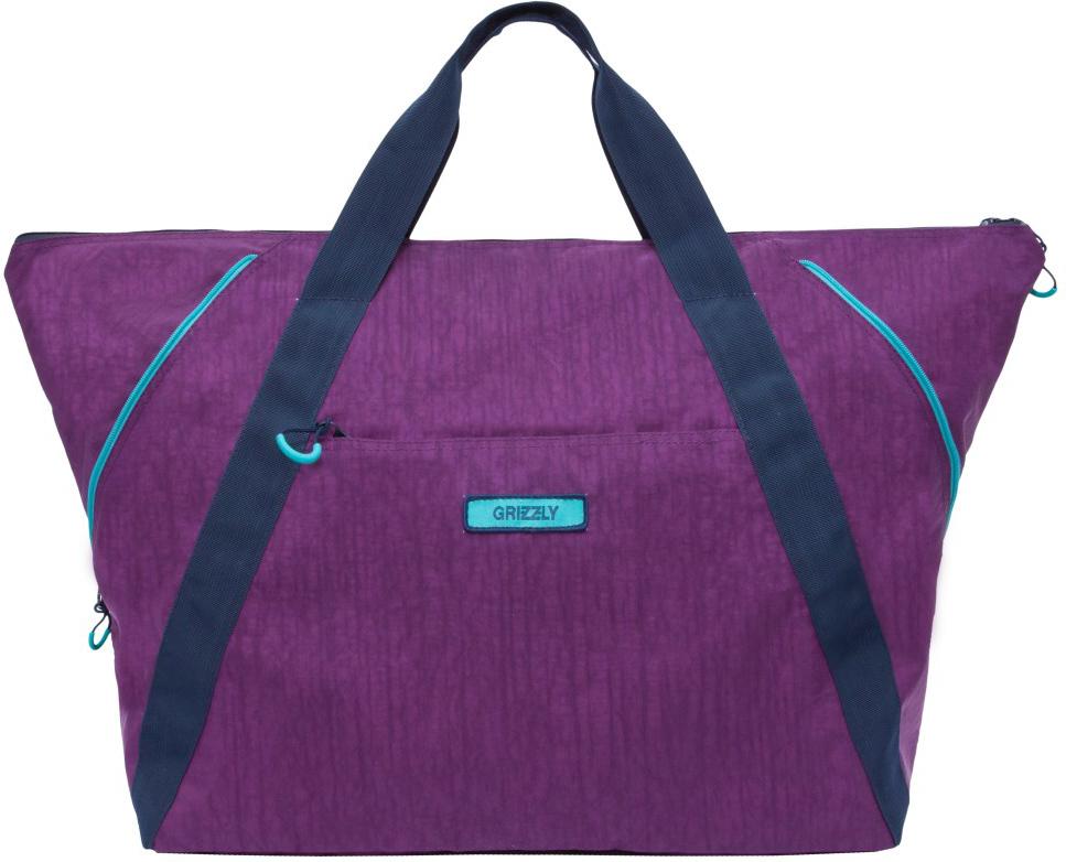 Сумка дорожная Grizzly, цвет: фиолетовый. TD-842-2/2