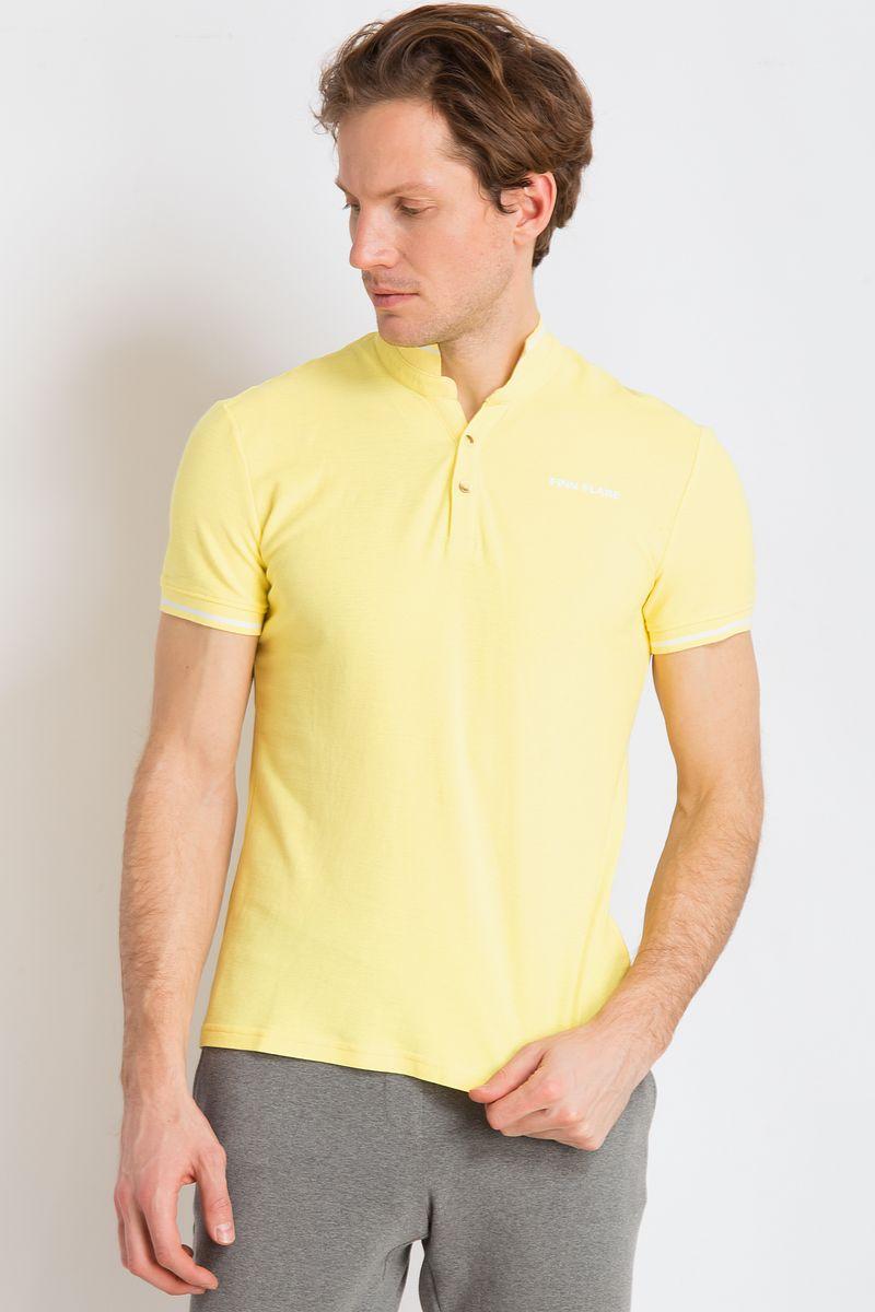 Рубашка-поло мужская Finn Flare, цвет: желтый. B18-21039. Размер 3XL (56) рубашка мужская finn flare цвет голубой b18 21023 размер 4xl 58