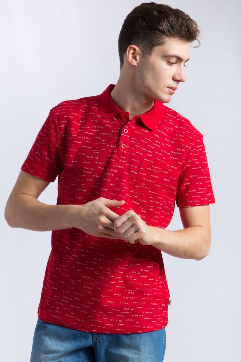 Поло мужское Finn Flare, цвет: красный. B18-21034. Размер 3XL (56) рубашки timberland рубашка