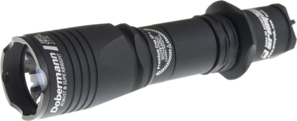 Фонарь светодиодный тактический Armytek Dobermann XP-L, 1250 лм, аккумулятор фонарь armytek barracuda pro v2 xhp35 hi silver