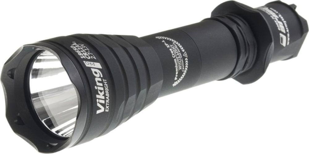 Фонарь светодиодный тактический Armytek Viking Pro v3, 1250 лм, белый свет, аккумуляторF01901BCНевероятно дальнобойный свет до 366 метровУдобный свет с углом луча 5:40 для продуктивной охоты из гладкоствольного оружияПостоянная яркость света даже при -25°C и при почти разряженном аккумулятореВысший стандарт пыле- и водонепроницаемости IP68 - более 5 часов на глубине 50 метровНадежный корпус, цветные фильтры и оригинальные выносные кнопки для комфортной охоты и безопасного тактического примененияГарантированная прочность - выдерживает отдачу любого оружия и падения с высоты 30 метровРекордное время работы на одном аккумуляторе 18650 Li-Ion в режиме Светлячок - 100 днейАккумуляторы в комплект не входят. Макс.дальность луча (м.): 366Время работы (мин.): 3600Сила света (кандел): 20500Световой поток (лм.): 1250Питание: аккумулятор 1x18650 Li-Ion / 2x18350 Li-Ion / 2xR123 Li-Ion / 2xCR123A