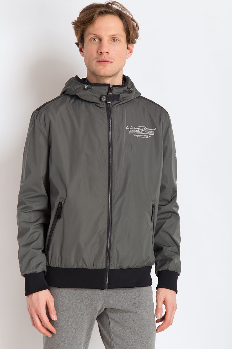 Куртка мужская Finn Flare, цвет: темно-зеленый. B18-22004. Размер 3XL (56)