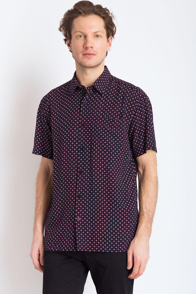 Рубашка мужская Finn Flare, цвет: темно-синий. B18-21037. Размер 3XL (56) рубашка мужская overlord han 152 2015