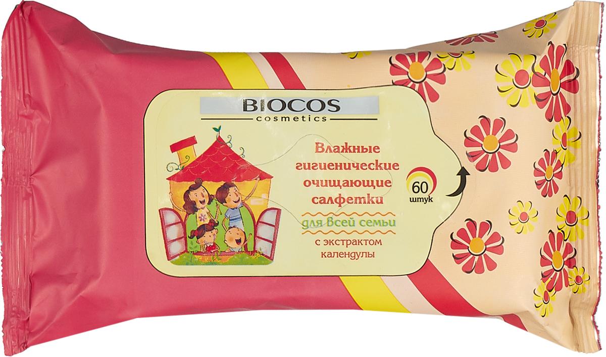 BioCos Влажные салфетки, универсальные, для всей семьи, 60 шт8181 Уважаемые клиенты! Обращаем ваше внимание на то, что упаковка может иметь несколько видов дизайна. Поставка осуществляется в зависимости от наличия на складе.