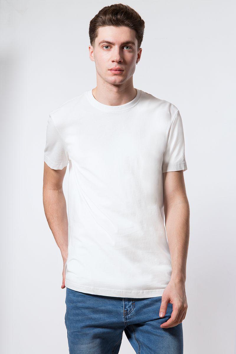 Футболка мужская Finn Flare, цвет: белый. B18-21027. Размер L (50) футболка мужская однотонная