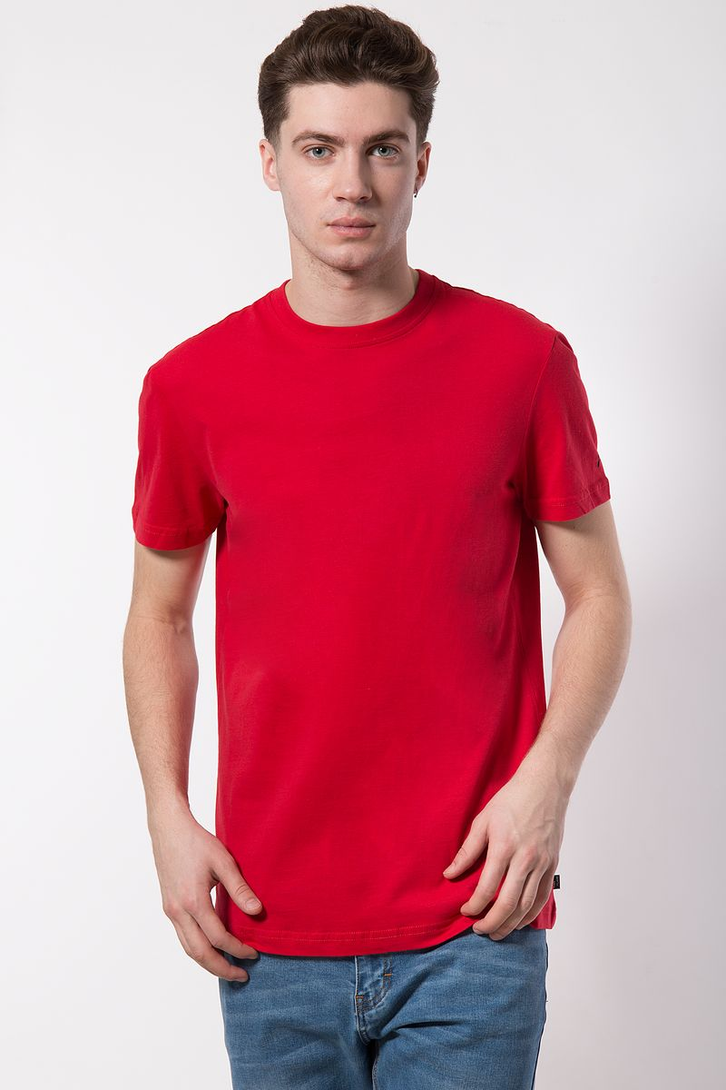 Купить Футболка мужская Finn Flare, цвет: красный. B18-21027. Размер 3XL (56)