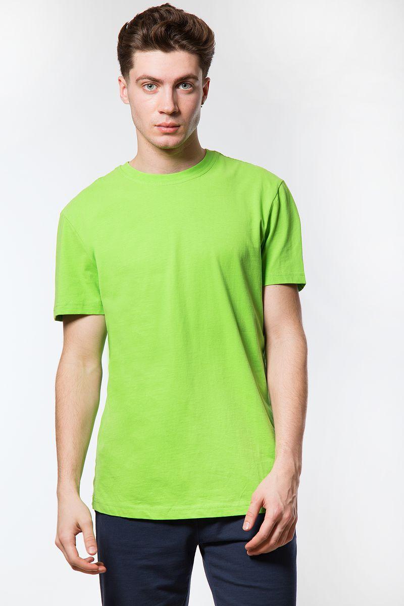 Купить Футболка мужская Finn Flare, цвет: светло-зеленый. B18-21027. Размер L (50)