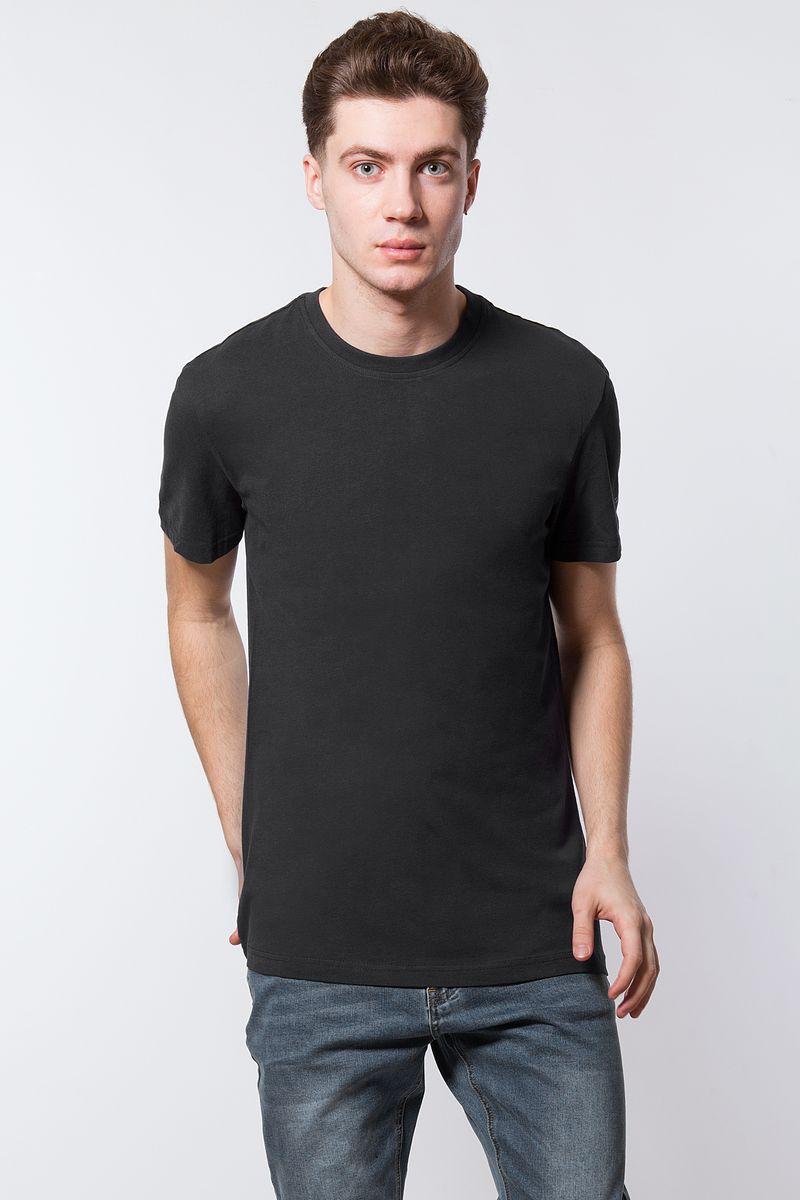Футболка мужская Finn Flare, цвет: черный. B18-21027. Размер L (50) футболка мужская однотонная