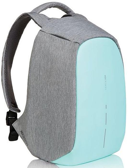 Рюкзак для ноутбука XD design Bobby Compact, до 14, цвет: серый, бирюзовый, 11 л рюкзак xd design bobby для ноутбука 15 серый