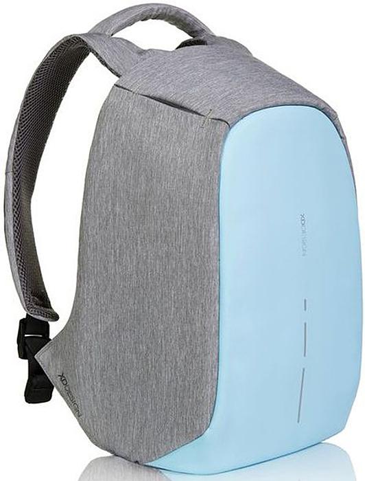 Рюкзак для ноутбука XD design Bobby Compact, до 14, цвет: серый, голубой, 11 л рюкзак xd design bobby compact для ноутбука 14 бирюзовый