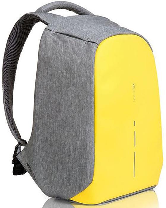Рюкзак для ноутбука XD design Bobby Compact, до 14, цвет: серый, желтый, 11 л рюкзак xd design bobby для ноутбука 15 черный
