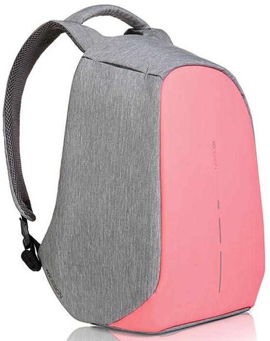 Рюкзак для ноутбука XD design Bobby Compact, до 14, цвет: серый, розовый, 11 л рюкзак xd design bobby compact для ноутбука 14 бирюзовый