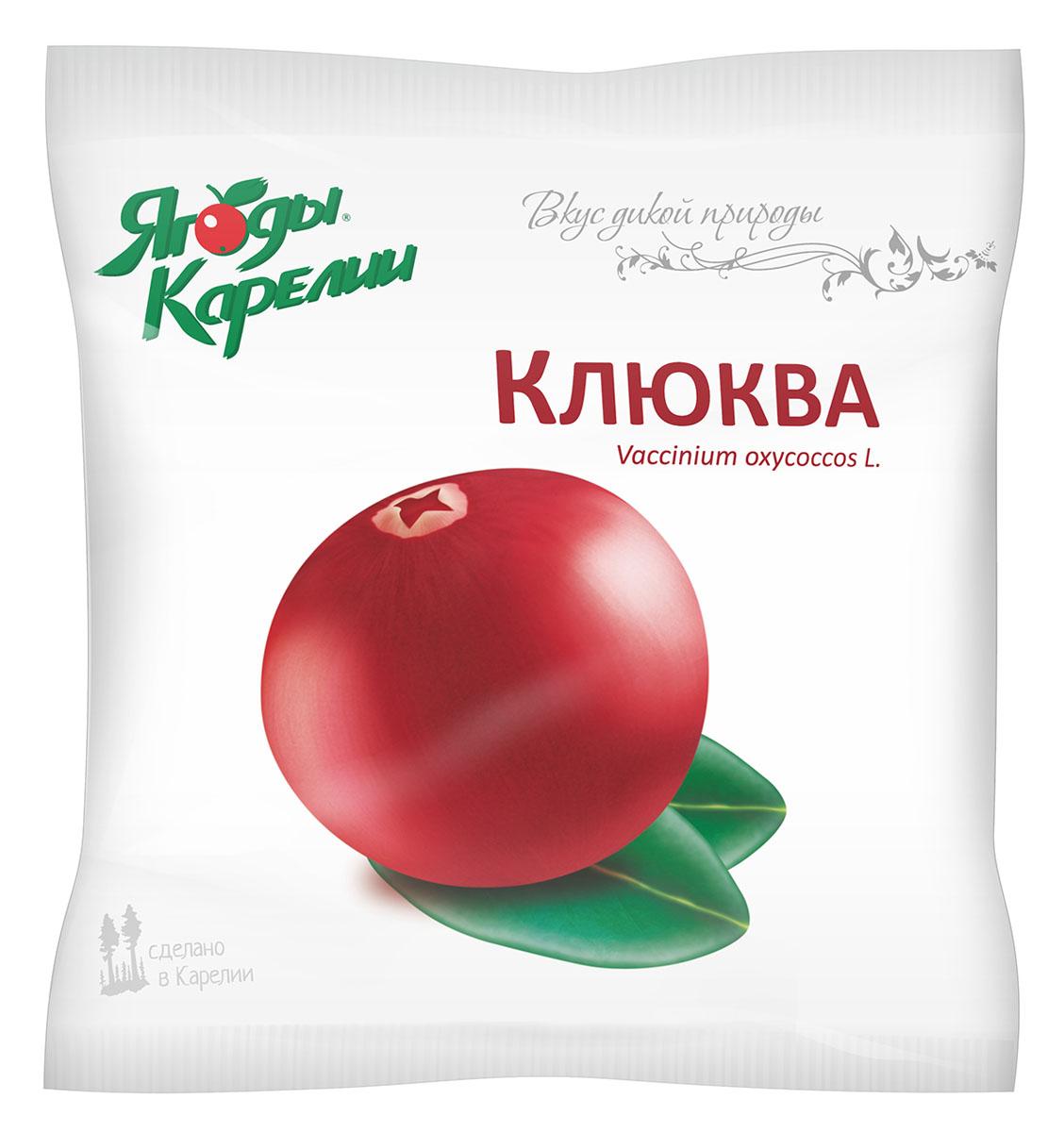 Ягоды Карелии Клюква быстрозамороженная, 200 г ягоды карелии сироп вишневый с мякотью 0 51 л