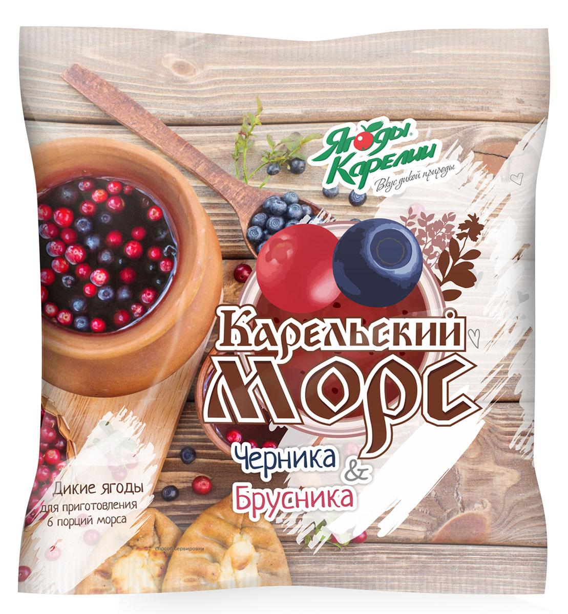 Ягоды Карелии Карельский морс, смесь ягодная быстрозамороженная, 300 г ягоды карелии сироп вишневый с мякотью 0 51 л
