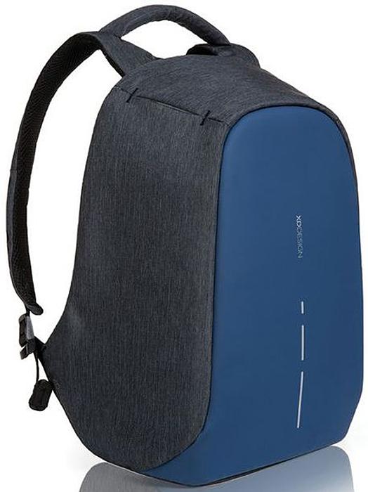 Рюкзак для ноутбука XD design Bobby Compact, до 14, цвет: темно-серый, темно-синий, 11 л рюкзак для ноутбука xd design до 15 bobby grey р705 542