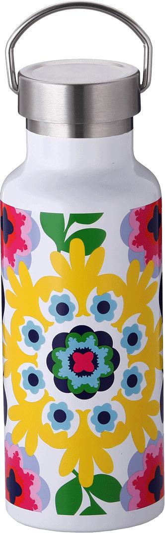 Бутылка-термос French Bull Sus, цвет: белый, мультиколор, 500 мл. VF-50LSUVF-50LSU SUSДвойные стенки из нержавеющий стали сохраняют холодные напитки холодными, а горячие — горячими.