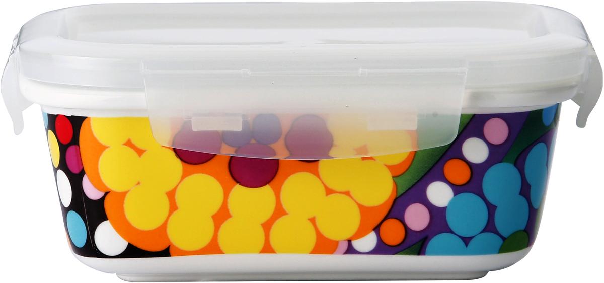 Контейнер пищевой French Bull Bindi, цвет: белый, 420 млCL-CQ-042F BindiВ контейнере можно готовить, выпекать (без крышки), подавать и хранить продукты. Контейнеры выполнены из высококачественного термостойкого белого фарфора с ярким рисунком. Пластиковая крышка контейнера плотно закрывается, имеет антимикробную силиконовую прослойку, которая позволит сохранить свежесть продуктов намного дольше.