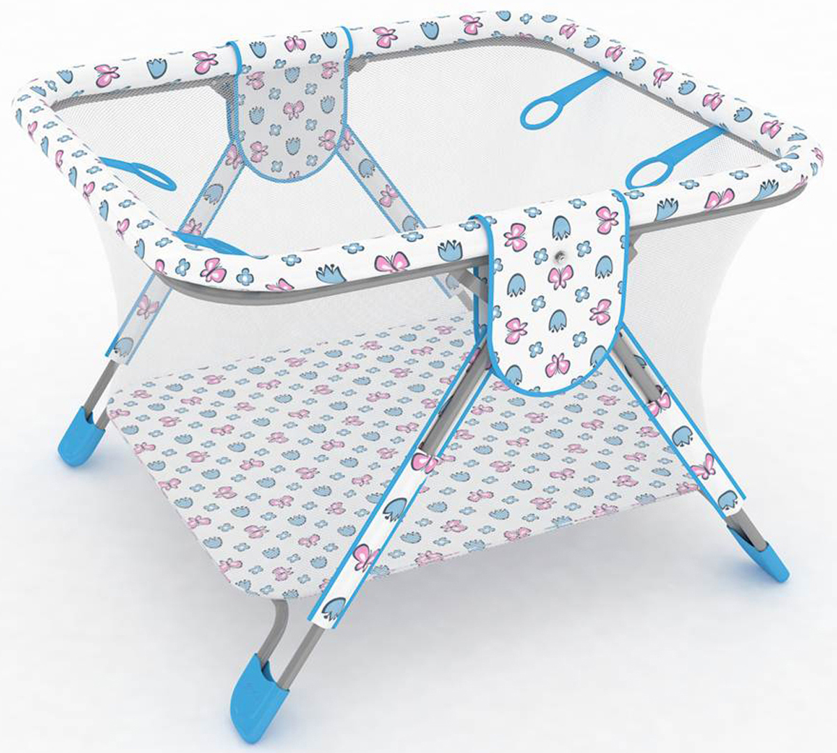 Фея Манеж Книжка Экстра цвет голубой0001026-1Описание:- манеж имеет 4 ручки-кольца для ребенка, - дно и края манежа мягкие, чтобы защитить ребенка от ушибов,- сетка с круговым обзором соответствует всем нормам безопасности,- покрытие легко моется, - рисунки выполнены нетоксичной краской,- легко и компактно складывается,- занимает мало места при хранении.