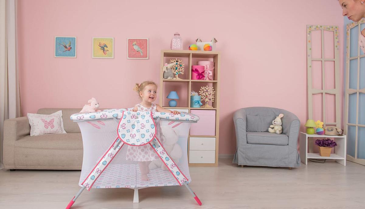 Polini Манеж Книжка цвет розовый