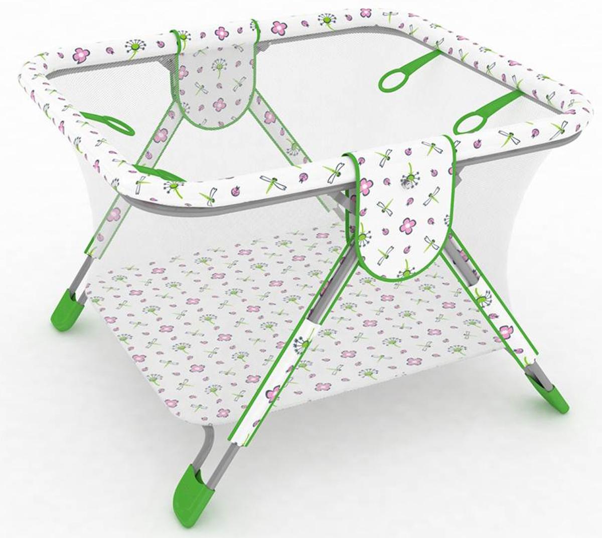 Polini Манеж Книжка цвет зеленый0001357-4Детский манеж Polini «Книжка» - качественный продукт для детей от 6 месяцев до 3 лет, в котором совмещены удобство и безопасность для новорожденного, а также функциональность мебели для детской комнаты. Манеж способствует правильному физическому развитию ребенка, имеет 4 пластиковые ручки-кольца и прозрачные бортики из сетки. Имеющая международные сертификаты качества пленка ПВХ особой прочности, не содержащая вредных для здоровья ребенка фталатов и тяжелых металлов, гарантирует безопасность малыша, а мягкие материалы подарят дополнительный комфорт. Изделие компактно складывается, облегчая хранение, и легко моется. Пластиковые накладки на ножках манежа придают дополнительную устойчивость.