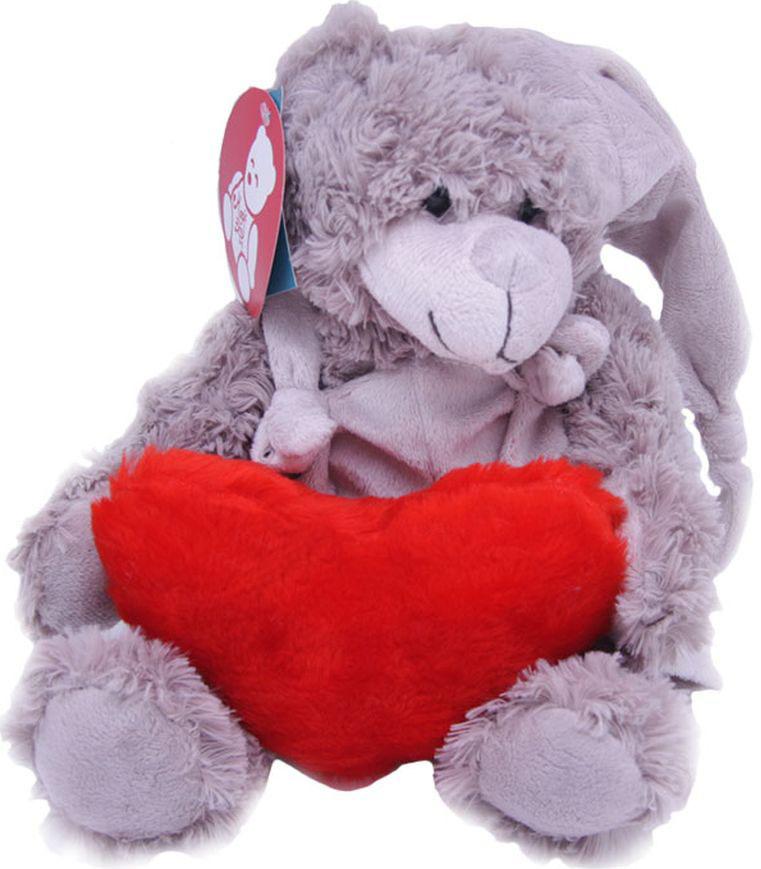 Magic Bear Toys Мягкая игрушка Мишка Патрик в шапке с сердцем 20 см magic bear toys мягкая игрушка медведь с заплатками в шарфе цвет коричневый 120 см