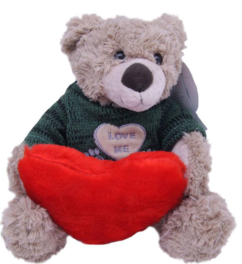 Magic Bear Toys Мягкая игрушка Мишка Тед в свитере c сердцем 20 см magic bear toys мягкая игрушка медведь с заплатками в шарфе цвет коричневый 120 см