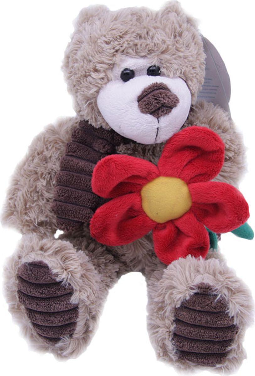 Magic Bear Toys Мягкая игрушка Мишка Норман в шарфе с цветком 18 см