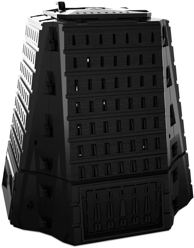 Компостер садовый Prosperplast Biocompo, цвет: черный, 900 лIKBI900C-S411Компостер Prosperplast Biocompo поможет поддерживать чистоту на участке. Выполнен из полиэтилена высокой плотности (HDPE), устойчив к ржавчине и не нуждается в особом уходе. Снабжен крышкой для удобной загрузки отходов.