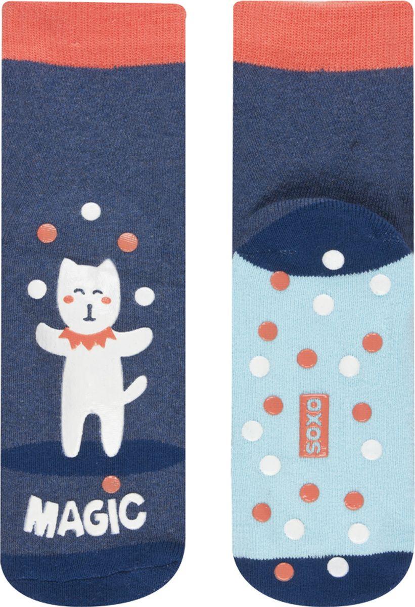 Носки детские Soxo Кошка, цвет: синий. 97100. Размер 26/28