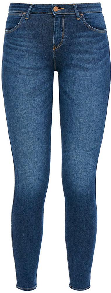 Джинсы женские Wrangler Skinny, цвет: синий. W28KFS15J. Размер 26-30 (42-30)W28KFS15JДжинсы от Wrangler выполнены из эластичного хлопкового денима. Джинсы-скинни облегающего кроя и стандартной посадки застегиваются на пуговицу в поясе и ширинку на застежке-молнии, дополнены шлевками для ремня. Джинсы имеют классический пятикарманный крой: спереди модель дополнена двумя втачными карманами и одним маленьким накладным кармашком, а сзади - двумя накладными карманами.