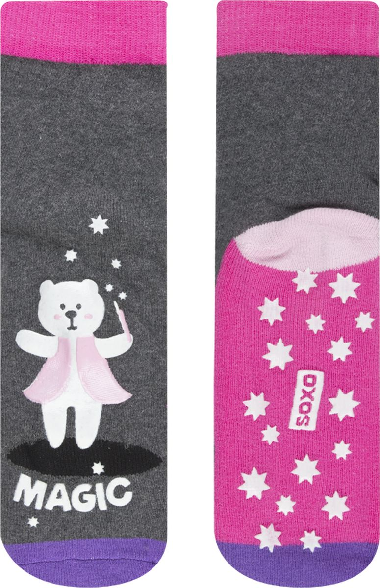Носки детские Soxo Мишка, цвет: серый. 97100. Размер 23/25
