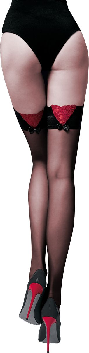 Чулки женские Knittex Guilty, цвет: черный. Размер 3GUILTYЭлегантные тонкие чулки от Knittex 15 den с гладкой каймой-резинкой на силиконовой основе. Невидимый мысок.