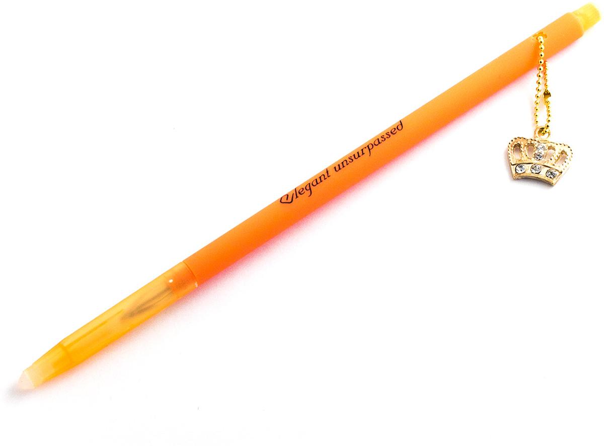 Эврика Ручка гелевая Корона №4 с подвеской цвет корпуса оранжевый98552Зря говорят, что написанное пером не вырубишь топором. Колпачок нашей ручки снабжен небольшим ластиком для стирания чернил. Поэтому исправить свою ошибку теперь проще простого. Изящная ручка с яркой и модной подвеской загипнотизирует любительниц гламура, покачиваясь на верхушке письменного прибора во время работы. Стержень гелевый, не сменяемый, цвет чернил - синий черный.Материал: пластик.Упаковка: индивидуальный слюдяной пакет.Вес: 10 граммов.