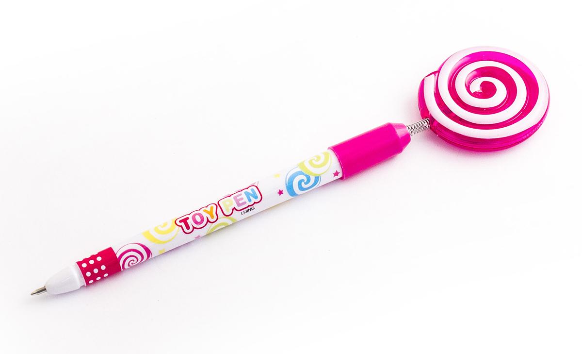 Эврика Ручка шариковая Леденец №5 цвет корпуса розовый цвет чернил синий cross ручка шариковая bailey черная цвет корпуса красный