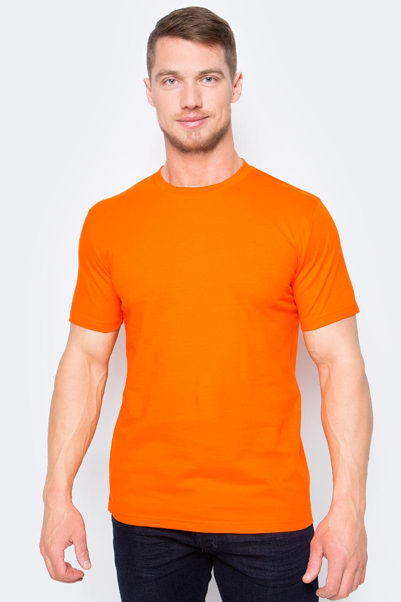 Футболка мужская StarkСotton, цвет: оранжевый. 05329. Размер XL (52/54)05329Футболка от StarkСotton выполнена натурального хлопкового трикотажа. Модель с короткими рукавами и круглым вырезом горловины.