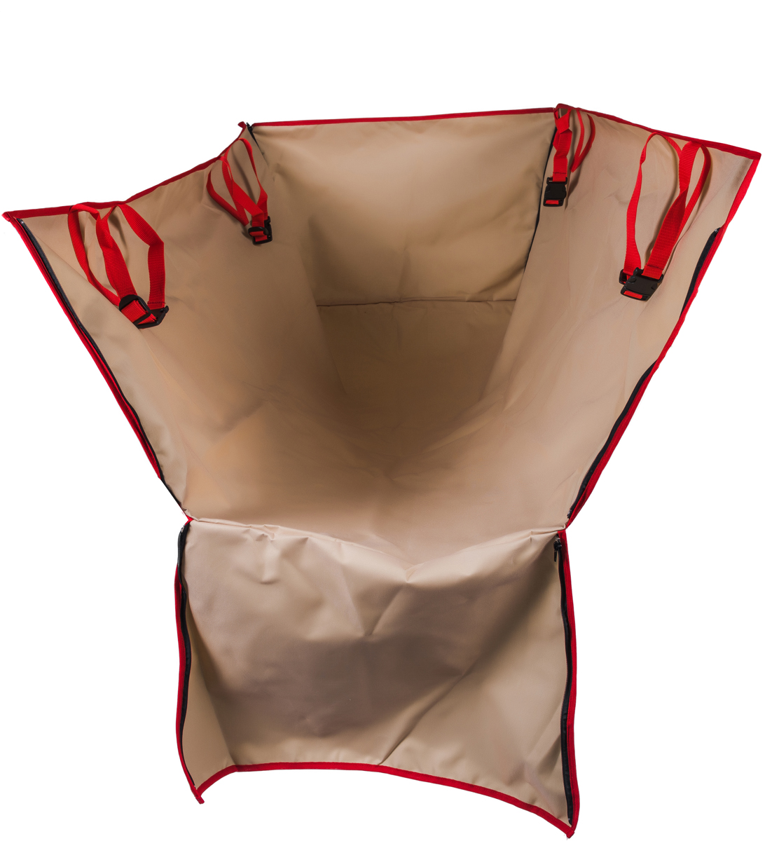 Автогамак для перевозки животных AvtoTink, с боковой защитой, цвет: бежевый, 150 х 120 х 43 см блуза vero moda vero moda ve389ewvpj60