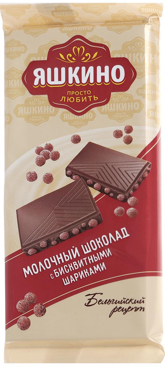 Яшкино шоколад молочный с бисквитными шарикими, 85 г райская птица молочный шоколад 38