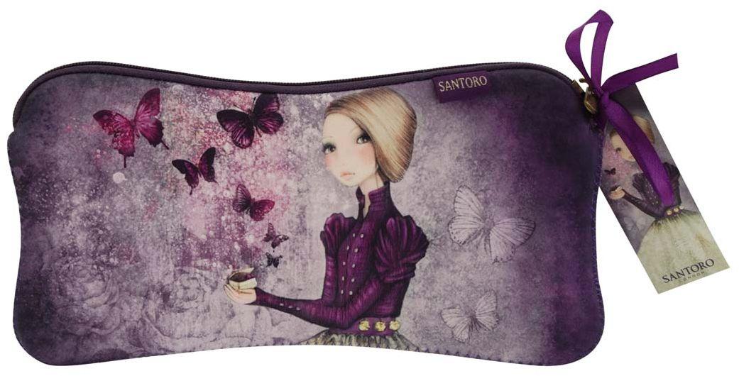 Santoro London Пенал Amethyst Butterfly0013169Милый пенал с девочкой Mirabelle для хранения своих канцелярских принадлежностей!
