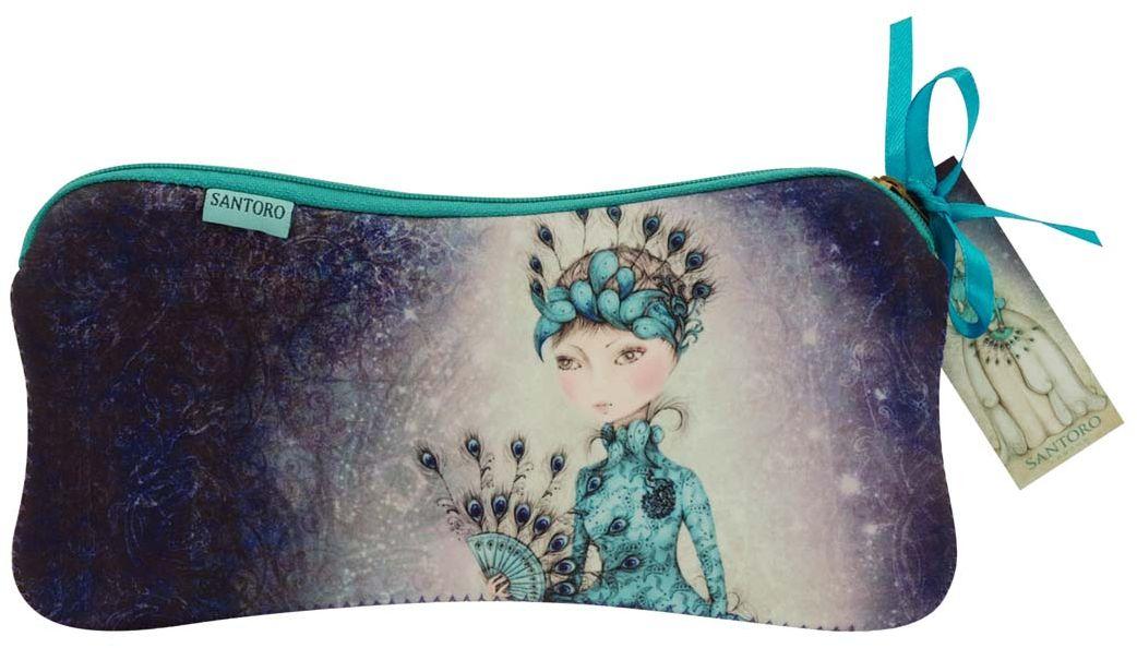 Пенал Santoro London Miss Peacock, цвет: фиолетовый0013172Милый пенална застежке- молнии, с изображением девочки Mirabelle предназначен для хранения своих канцелярских принадлежностей!