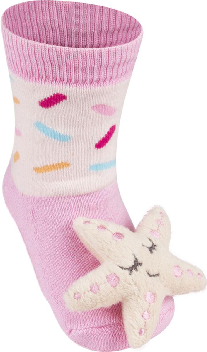 Носки детские Soxo Звезда, цвет: розовый. 84858. Размер 19/21 носки детские soxo цвет голубой 84858 размер 19 21