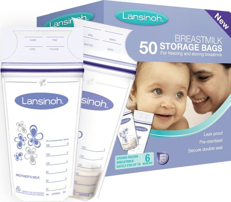 Lansinoh Пакеты для грудного молока 50 шт - Молокоотсосы