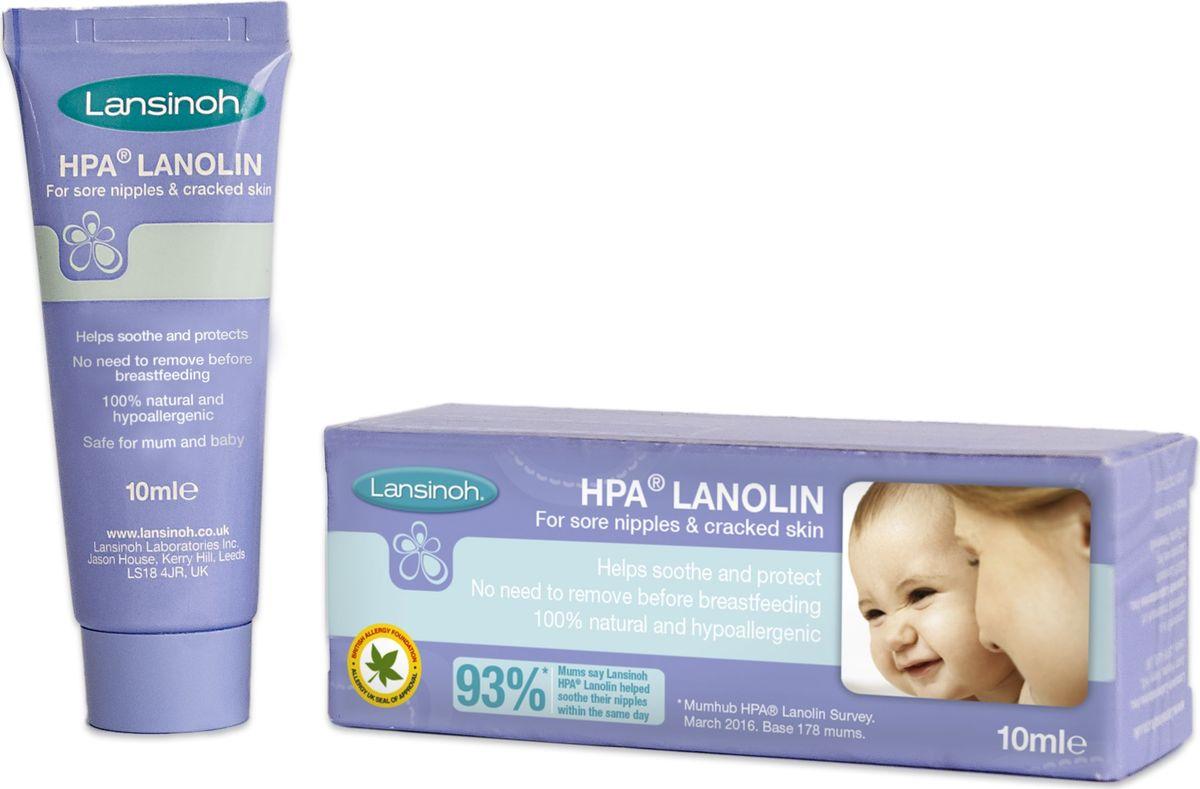 Lansinoh HPA Крем для сосков 10 мл39580005Lansinoh HPA Ланолин обеспечивает заживление ран благодаря глубокому увлажнению кожи. Защищает и успокаивает болезненные соски. Кожа сохраняет внутреннюю влагу, остаётся эластичной и мягкой. Раны заживают без образования корочек.Ланолин высокой степени очистки не содержит консерванты, химикаты, антиоксиданты и другие добавки. Нет необходимости смывать перед кормлением грудью. 100% натуральный и гипоаллергенный, без вкуса, цвета и запаха. Помогает маме продолжать кормить грудью, уменьшая болезненные ощущения в области сосков.