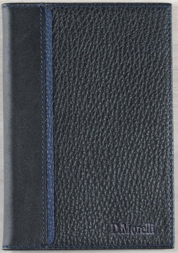 Обложка для паспорта мужская D. Morelli Бруно, цвет: синий