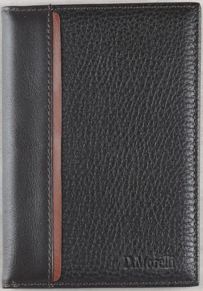 Обложка для паспорта мужская D. Morelli Бруно, цвет: коричневый. DM-PS02-FK22