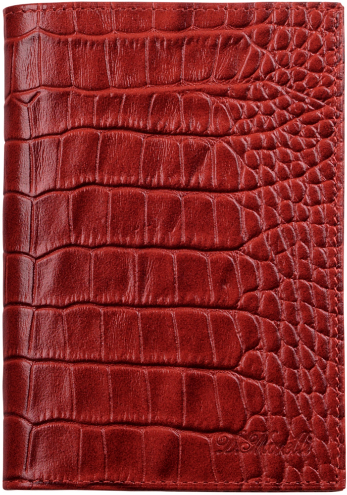 Обложка для паспорта женская D. Morelli Croco, цвет: красный