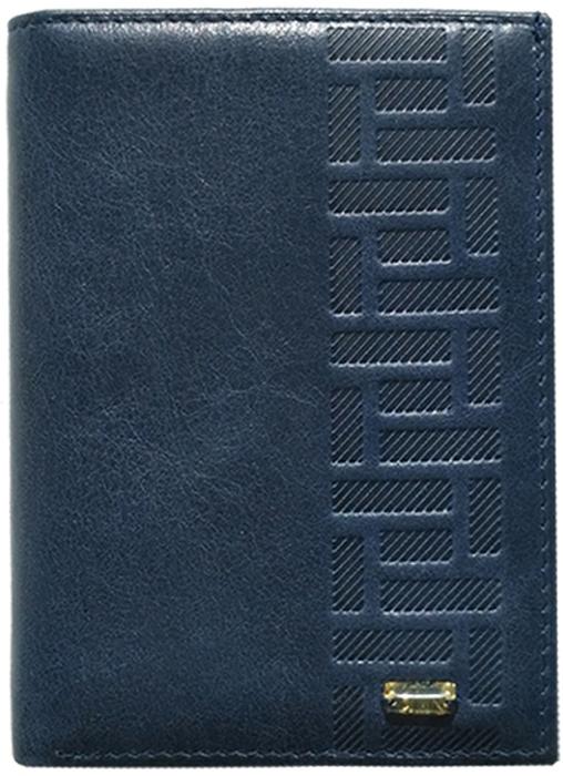 Обложка для паспорта женская D. Morelli Элегия, цвет: синий