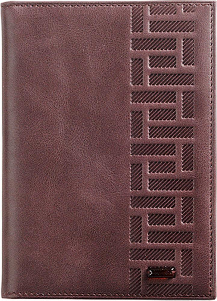 Обложка для паспорта женская D. Morelli Элегия, цвет: бордовый