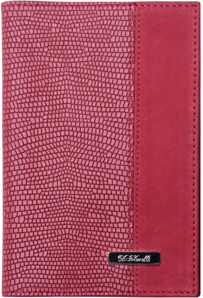 Обложка для паспорта женская D. Morelli Тирамо-2, цвет: розовый