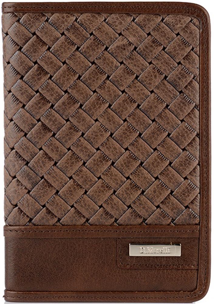 Обложка для паспорта мужская D. Morelli Денвер, цвет: коричневый